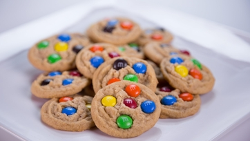 Carla Hall\'s Peanut Butter M&M Cookies