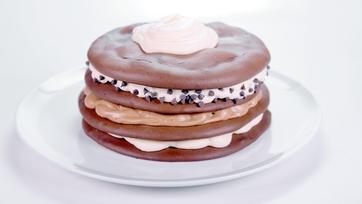 Triple Chocolate Whoopie Pie Cake