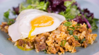 Clinton Kelly\'s Ranch Style Rice with Fried Eggs
