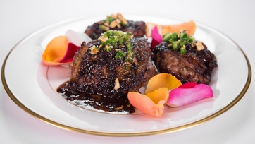 Mario Batali\'s Chocolate Chicken with Rose Petals