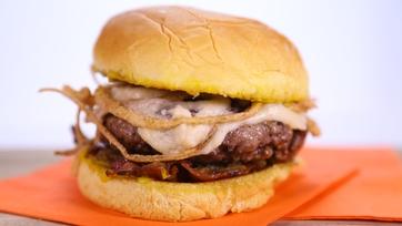 Michael Symon\'s French Onion Burger