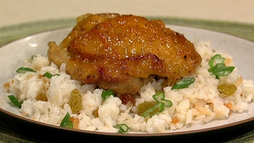 Clinton Kelly\'s Ginger-Orange Chicken with Coconut Rice