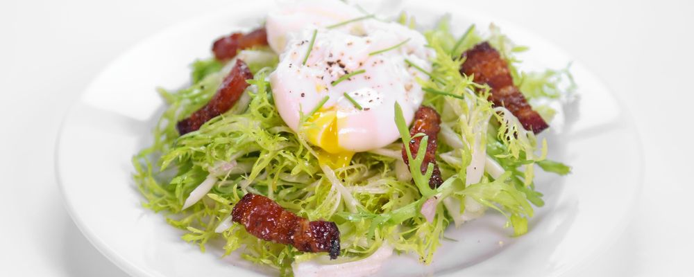 Frisee Salad with Candied Bacon