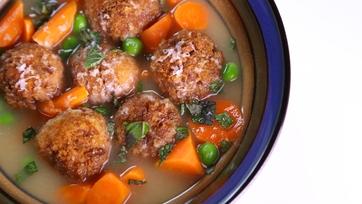 Mario Batali\'s Bread Dumpling Soup