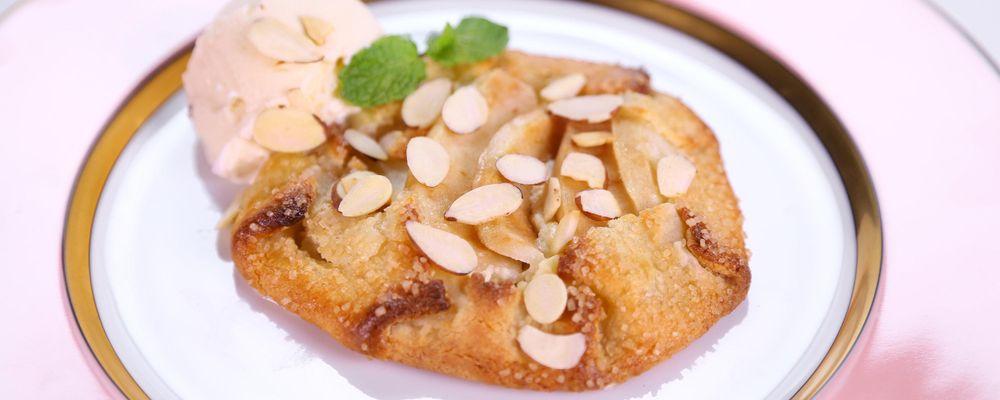 Brian Boitano\'s Pear and Almond Crostata