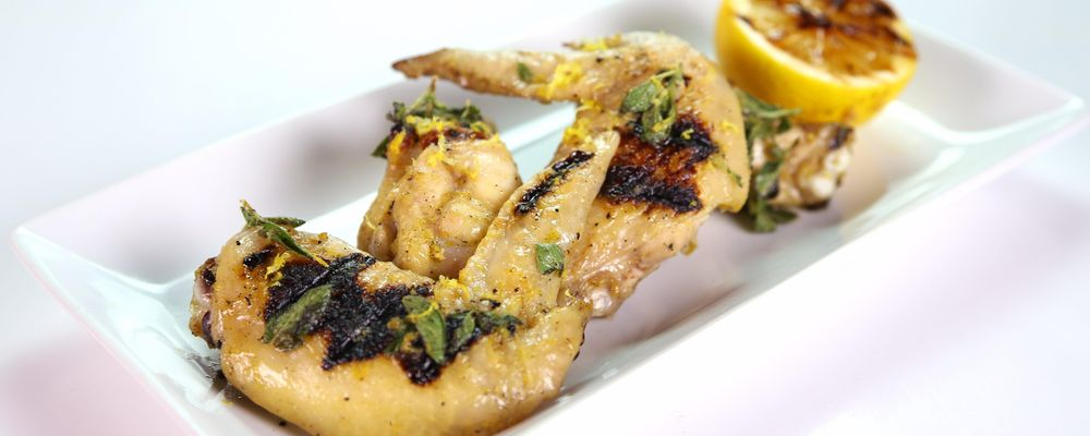 Michael Symon\'s Grilled Lemon Oregano Chicken Wings