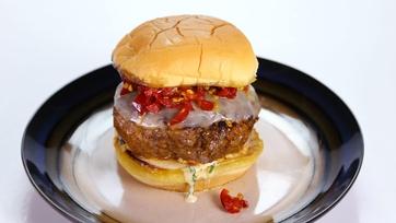 Mario Batali\'s Spicy Sausage Provolone Burgers