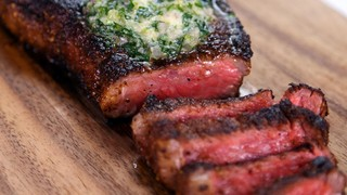 Michael Symon\'s Strip Steak with Compound Butter