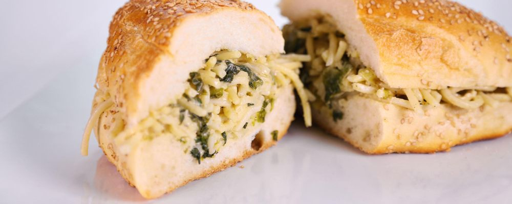Leftover Pasta Sandwich