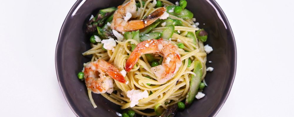 Michael Symon\'s Shrimp and Spring Vegetable Pasta