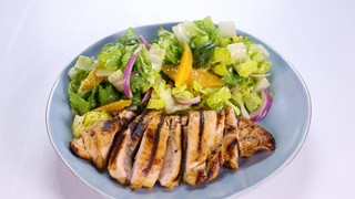 Allison Dalke\'s Grilled Orange Chicken and Romaine Salad