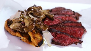 Mario Batali\'s Hanger Steak with Hen of the Woods
