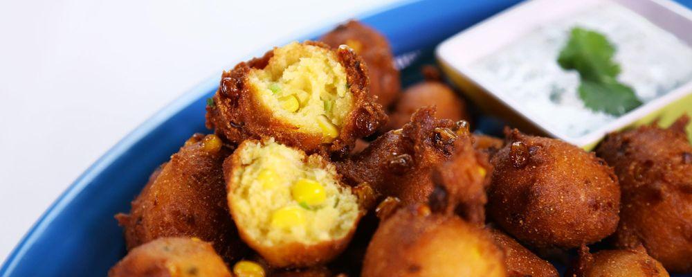 Michael Symon\'s Corn Fritters