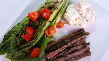 Justine Beringer\'s Marinated Skirt Steak with Loaded Potato Salad