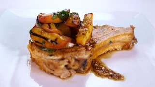 Michael Symon\'s Smoked Pork and Peaches