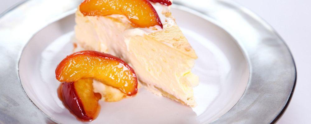Carla Hall\'s Peaches n\' Cream Cheesecake