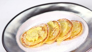 Carla Hall\'s Silver Dollar Ricotta Pancakes with Lemon Oil
