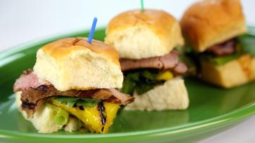 Roble Ali\'s Hawaiian Pork Tenderloin Sliders