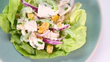 Art Smith\'s Chicken and Apples with Blue Cheese-Yogurt Dressing