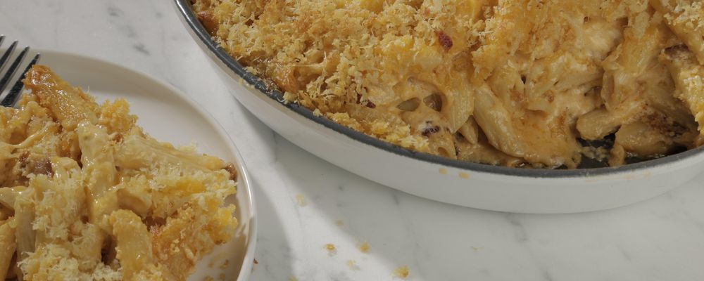 Mario\'s Makeover: Moist and Crunchy Mac and Cheese