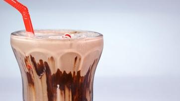 Mario Batali\'s Peppermint Black and White Shake