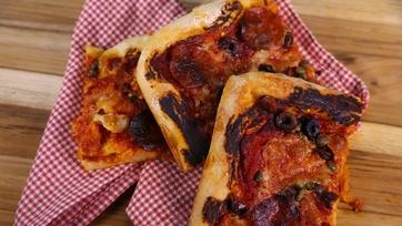 Mario Batali\'s Pepperoni Pan Pizza