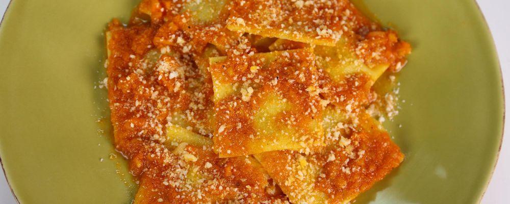 Mario Batali\'s Acorn Squash Ravioli in Sugo Finto