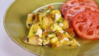 Ratatouille and Feta Frittata