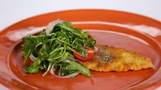 Michael Symon\'s Fluke Milanese with Lemon