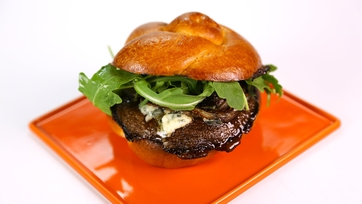 Michael Symon\'s Portobello Blue Cheese Sandwich