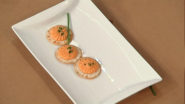 Clinton Kelly\'s Goat Cheese and Red Pepper Mousse