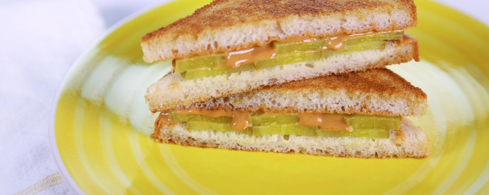Michael Symon\'s Peanut Butter Pickle Sandwich