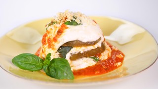 Michael Symon\'s Microwaved Eggplant Parmesan