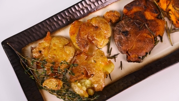 Michael Symon\'s Smashed and Fried Potatoes