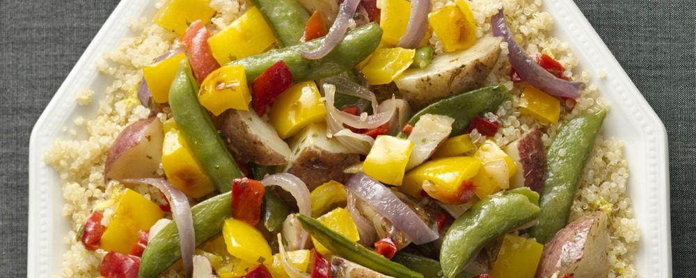 Garden Vegetables with Lemon-Scented Quinoa