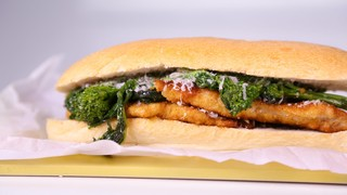 Michael Symon\'s Turkey Cutlet with Broccoli Rabe