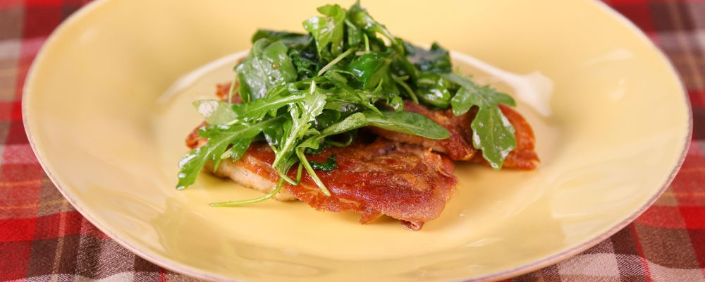 Michael Symon\'s Pork Saltimbocca