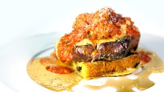 Panettone French Toast with Sausage & Red Eye Gravy
