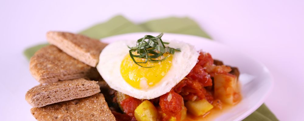 California Veggie Hash 2 Ways with Eggs