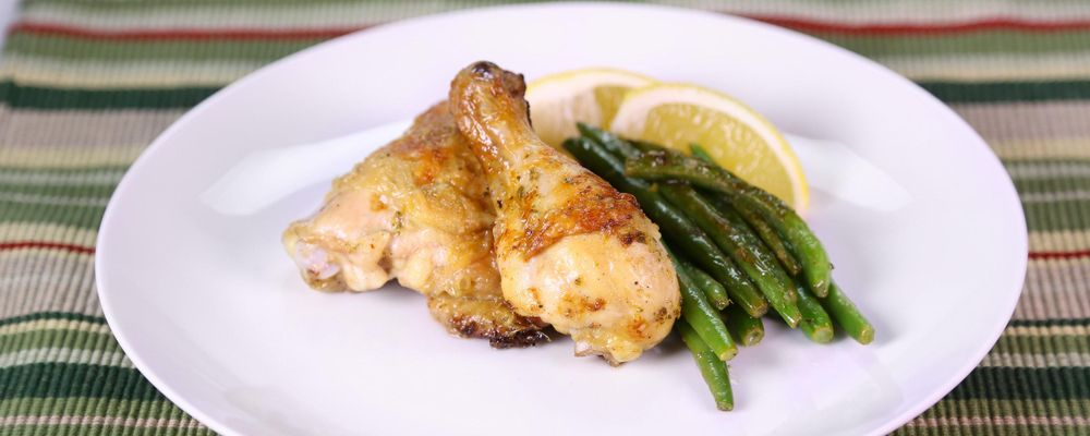Sage, Lemon Chicken with Buttered Green Beans