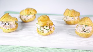 Baby Chicken Salad Puffs