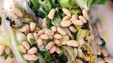 Grilled Escarole with White Beans