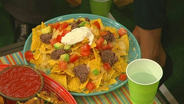 Lighter Game Day Nachos