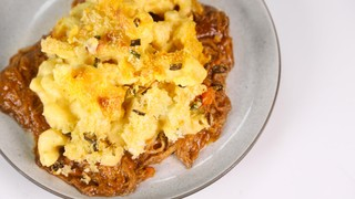 Pulled Pork Mac and Block o\' Cheese