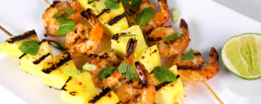 Grilled Shrimp and Pineapple