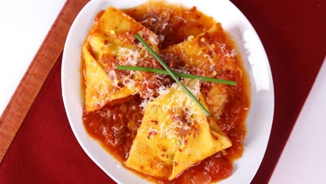 Tortelli of Potato and Chives All\' Arrabbiata