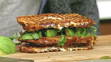 Triple Decker Spicy Pulled Pork Grilled Cheese