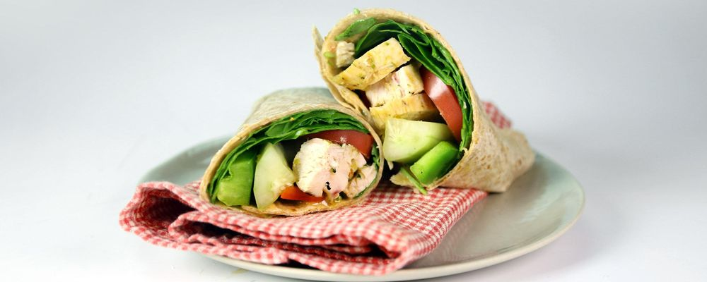 Chicken Bacon Veggie Whole Wheat Wrap