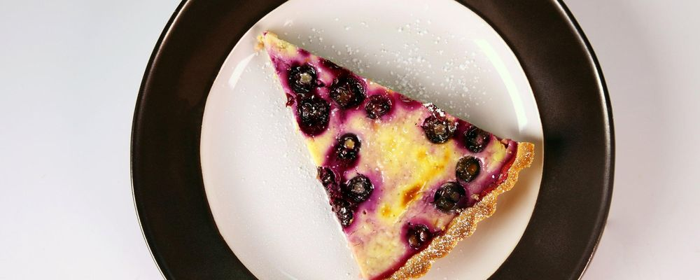 Blueberry Yogurt Pie