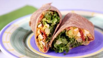 Egg & Avocado Salad Wrap
